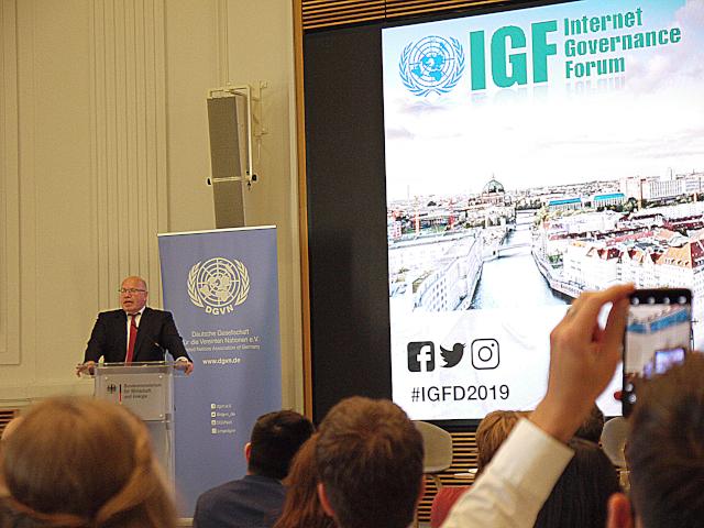 Peter Altmaier beim Internet Governance Forum 2019