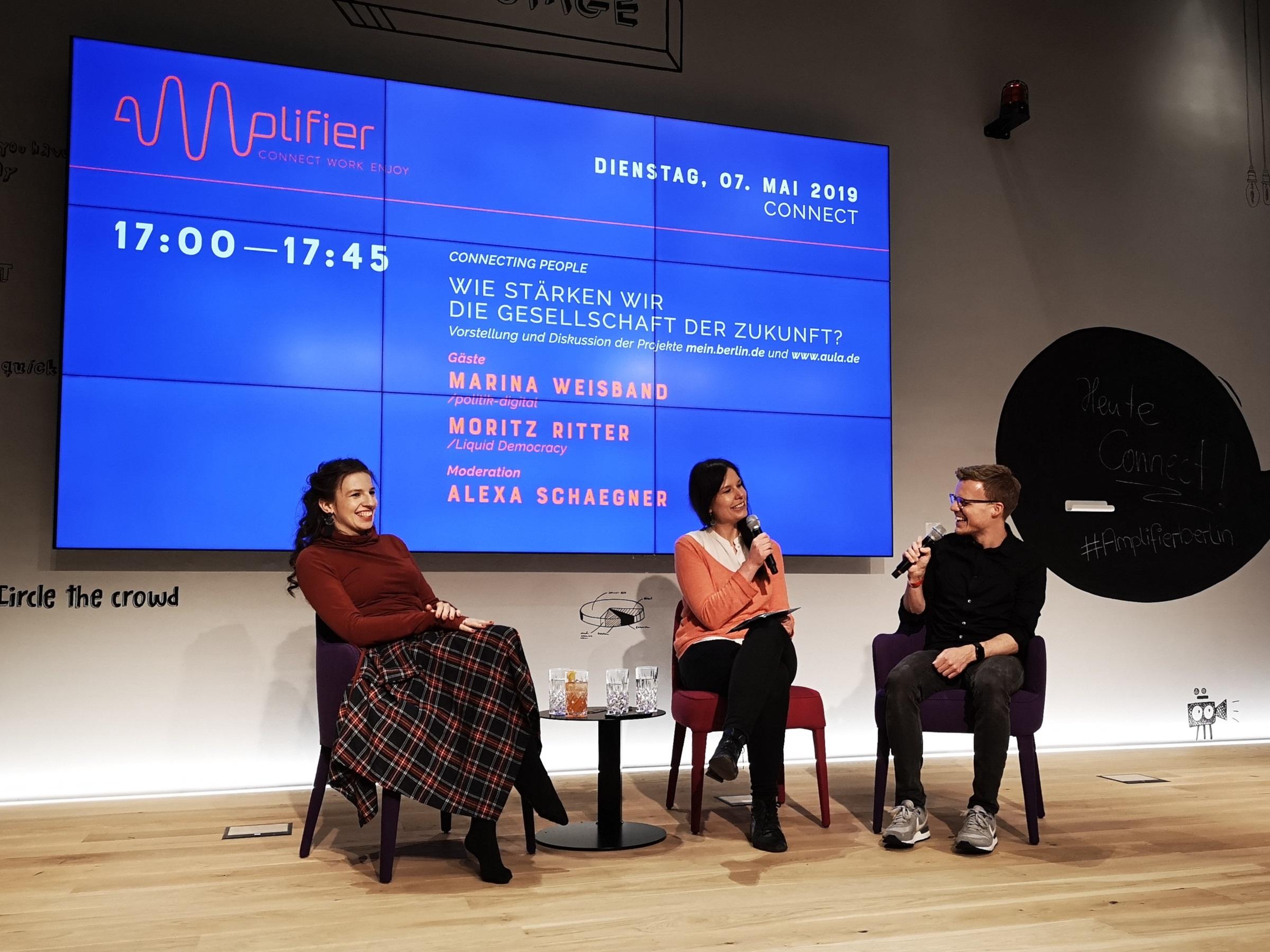 Podiumsdiskussion mit Marina Weisband, Alexa Schaegner und Moritz Ritter